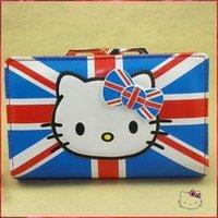 Hello kitty new fashion HOT SALE men women ultrathin purse wallet Design flag big size 339 WKT017