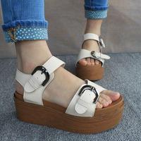 Женские сандалии 2013 Open toe sandals wedges leuconostoc lacing low platform high-heeled women's shoes