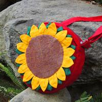 Dongba unique sunflower cross-body one shoulder dual-use package women's handbag handmade