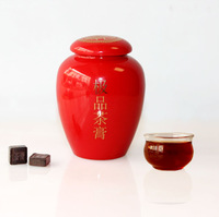 Freeshipping puer ChaGao with Ceramic pot Pu'er cream cooked tea paste luck in tea Pu erh cream 30g Specials