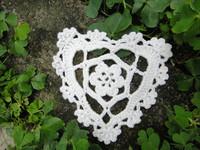 wholesale 100% cotton hand made Crochet Doily, Heart Shaped cup mat 10 cm 20PCS/LOT crochet applique valentine day gift