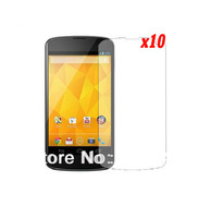 10pcs/lot New Clear LCD Screen Protector Guards Film Films For Google LG Nexus 4 E960 Retail Package +Free shipping