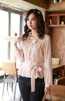 Free shipping fashionable women blouse OL dress shirt  tops office lady rayon tops  long sleeve blouses luxury clothes