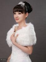 White Beautiful Modest Faux Fur Bolero Wedding Wraps&Bridal Shawl