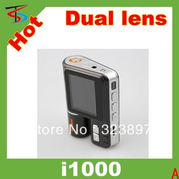 i1000 Dual Lens HD 1280 *720 Vehicle DVR Car Dashboard Camera Video Recorder+ G sensor