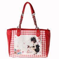 2012 women's handbag OLIVE shoulder bag r5095-50 red white