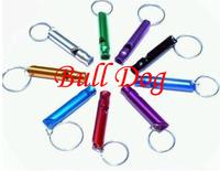 45*8MM Outdoor Emergency Survival Whistle Train Whistle Aluminum Wholesale 100 pcs\lot Free shipping (Random Colors)