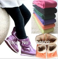 Special Offer Retail New Arrivals Kids Girls Thick Candy Color Winter Leggings Pants Warm Velvet Pants Free Shipping C068