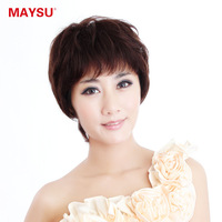 free shipping 1pcs The elements of beauty full hand-made real hair wig bulkness elegant women's jiafa msz029