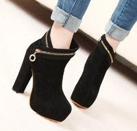 KVOLL Style New Free shipping luxury lady ankle platforms boots suede women's high-heeled shoes Jf-39-0315