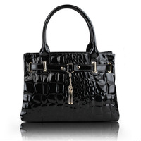 Free shipping 2013 women's handbag candy color japanned leather vintage women's bag