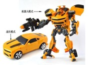 Free shipping Transforming Super Humblebee Robots Sound Light Robot Autobots kids chidren hero car Toys Christmas Gift H42cm