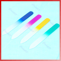 Hot Sell 4 X Cyrstal Glass Nail File Set Assorted Color Manicure Tool Wholesale