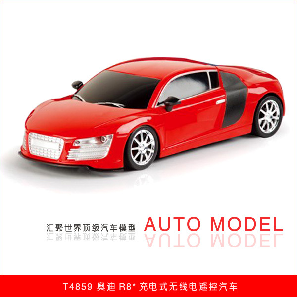 free shipping AUDI r8 charge remote control car artificial car model electric remote control car(China (Mainland))