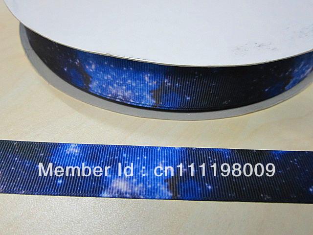 WM 7/8inch royal sky grosgrain ribbon 50yds/roll free shipping(China (Mainland))