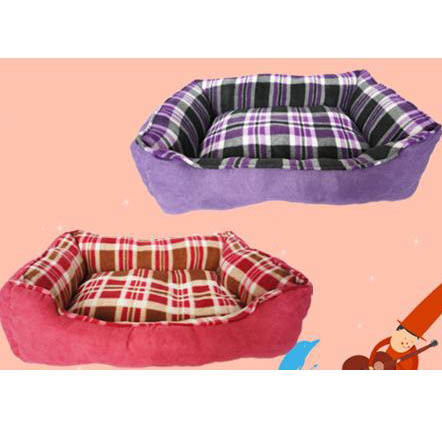 2012 New Arrival Pet Nest Luxury Coral Cotton Warm Comfortable Dog Bed Non-slip Bottom Red Purple(China (Mainland))