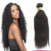 "3 Pieces/lot full head wholesaler 16"" Grade AAAA+ 100% virgin malaysian hair kinky straight hair extension"