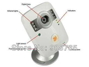 DHL FREE SHIPPING! Wireless 3G Surveillance Camera with Night Vision Home Security Mobile IR Network 3G Eye Camera DVR