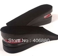 Best selling!!Men Air Cushion PU Adjustable height increase insole/Shoe Pad, two- piece design,Free Shipping 1pair