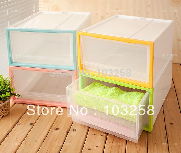 New PP Material plástico único gabinete gaveta camada de Material PP armário de armazenamento de artigos diversos de agrupamento armário box 3 cores(China (Mainland))