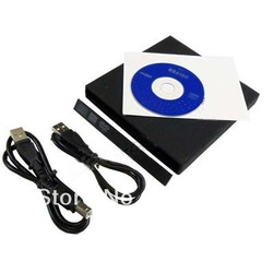 SATA to USB 2 Case Enclosure Caddy For Laptop CD DVD ROM RW Drive Win7 XP Vista(China (Mainland))