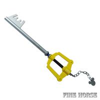 Kingdom Hearts Yellow Mickey Head Kingdom Key Keyblade Cosplay Props