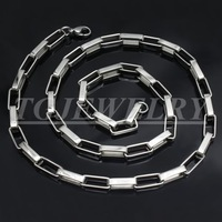 Free shipping! stainless steel necklace box chain,silver color,simple design