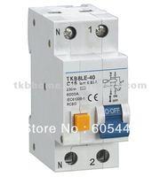 Electromagnetic type 30mA 2P C20 RCBO TKB8L-40