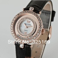 Free shipping Royal crown 3628 classic rose glod dial with black calf leather strap creates a watch of timeless elegance