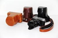 Wholesale! High quality camera case PU leather bag for fujifilm X-E1 XE1 X-E2 XE2 camera bag case Free shipping