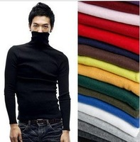 Clothing fashion autumn and winter turtleneck slim short design long-sleeve thermal sweater male sweater