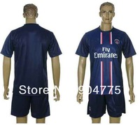 New 2012 2013 Paris Saint Germain PSG home dark blue soccer jerseys 100% embroidery football uniforms Brand kits Free Shipping