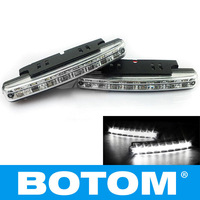 Car 8 LED DRL Driving Daytime Running Day LED Light Head Lamp Super White New 2Pcs/lot. Free shipping