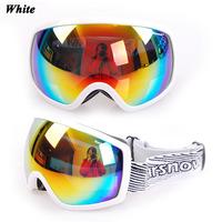 Free shipping Dual PC lens anti-fog/Scratch coating Super horizon ski / riding goggles/eyeglasses with Anti-slip strip M066