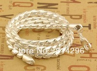 Free  shipping     Men and women fashion jewelry 925 silver necklace