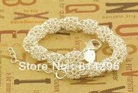 Free  shipping   925 sterling silver jewelry fashion jewelry female hollow out bracelet