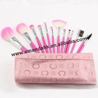 13pcs pink color makeup brush set make up tool cosmetic brusher 20sets/lot