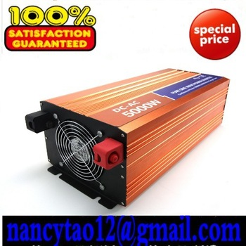 Factory sell CE&ROHS approved ,dc 12v/24v/48v to ac 100v-120v/220v-240v 5000w/5kw ,peak 10000w pure sine wave solar inverter