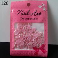5 x 100pcs/pack 3D Nail Art Resin Perfect Nail Art Decoration + Free Shipping