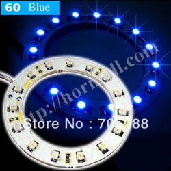 100* 60mm car truck headlight 15SMD 1210 LED angel ring lights taillights vehicle decorative lamps blue(China (Mainland))