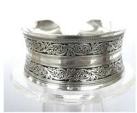 New Tibetan Tibet Silver Totem Bangle Cuff BraceletFF