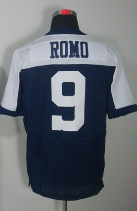 Free Shipping #9 Tony Romo Men&#39;s Elite Alternate Throwback Navy Football Jersey(China (Mainland))