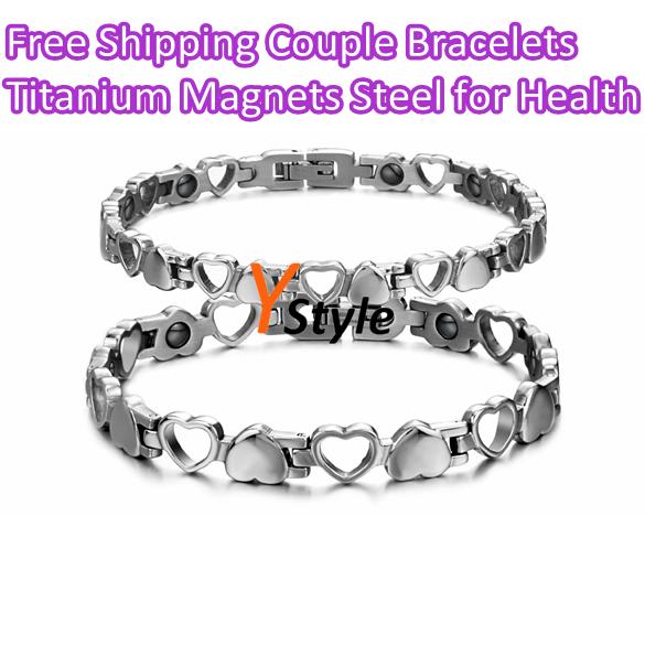 Anti-Fatigue Titanium Bracelet Radiation protection Healthy Jewelry Titanium Steel Magnet Bracelet with Hasp(China (Mainland))