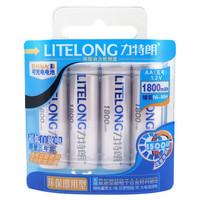 Free shipping (4 pieces/card) LITELONG AA 1.2v 1800mah Ni-MH Rechargeable Battery Consumer Battery High Capacity