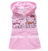 Best selling children sundress baby girl's hello kitty sleeveless dress C6813