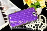 Cushion Quilted Designer Diamond Rhinestone Crystal Bling Case for Samsung Galaxy Note II Note 2 N7100,50pcs/lot free shipping