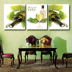 Art house picture frame home decoration trippings fashion grape cup elegant wall picture(China (Mainland))