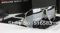 FREE SHIPPING 2012 NEW BRAND IN ORIGINAL PACKAGING SUNGLASSES SILVER FRAME G-15 MIRROR LENS 58mm 62mm FOR MEN'S WOMEN'S TOP A+