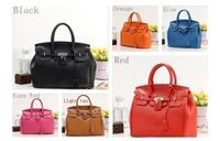 Hot Celebrity Girl Faux Leather Handbag Tote Shoulder Bags Casual Purse