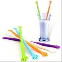50pce/lot  new smile face puddler length 22 Cm Stir bar potstick rabble Fruit Muddlers & Caipirinha Pestles + Free Shipping